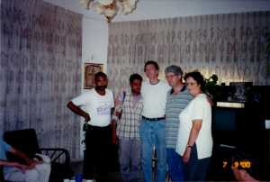 Two believer, Terry McIntosh and Tim and Louise on the right