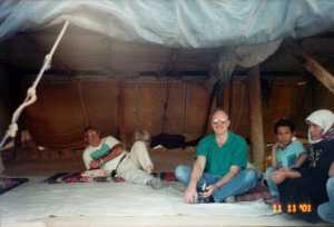 sitting in the home of Miriam the Bedouin