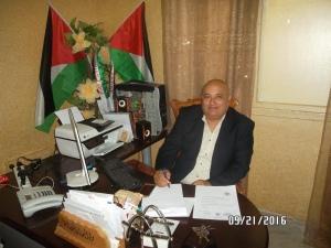 Tayseer in his office