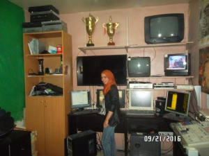 Working at the TV station